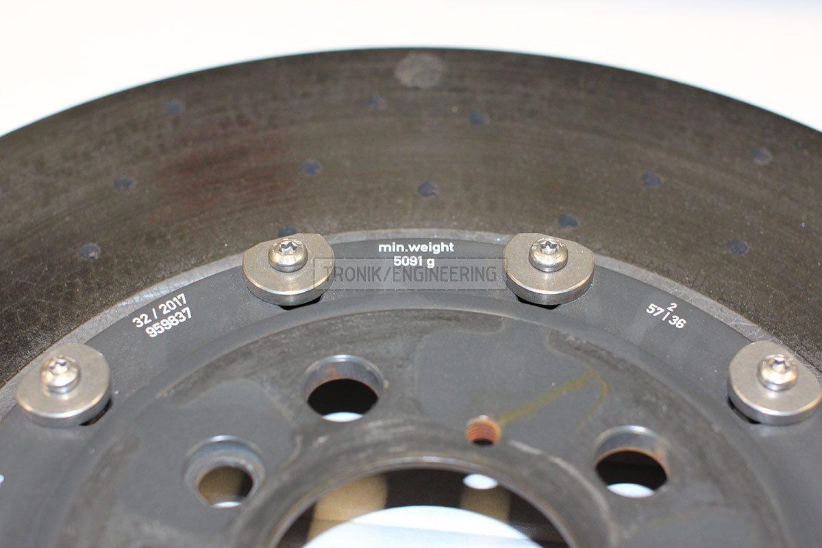 minimal weight left rear brake rotor 5091 gr