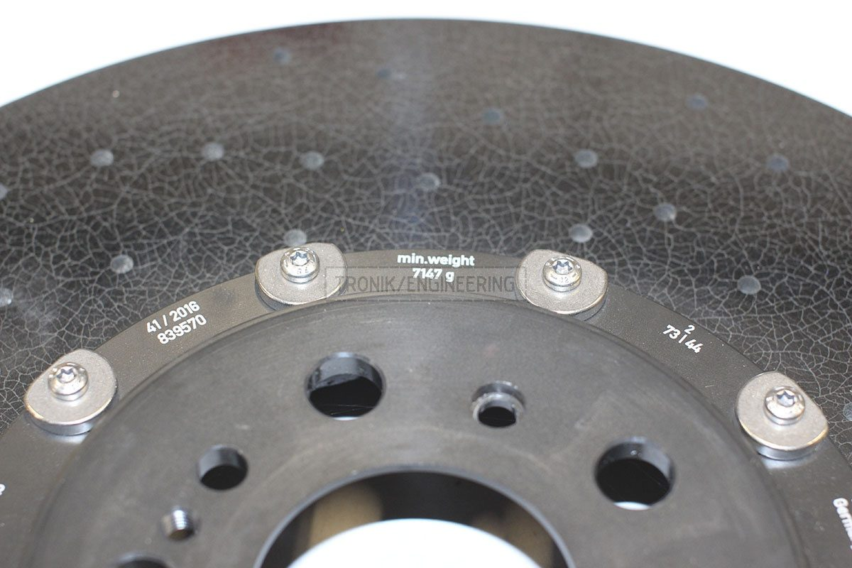 minimal weight right front rotor 7147 gr