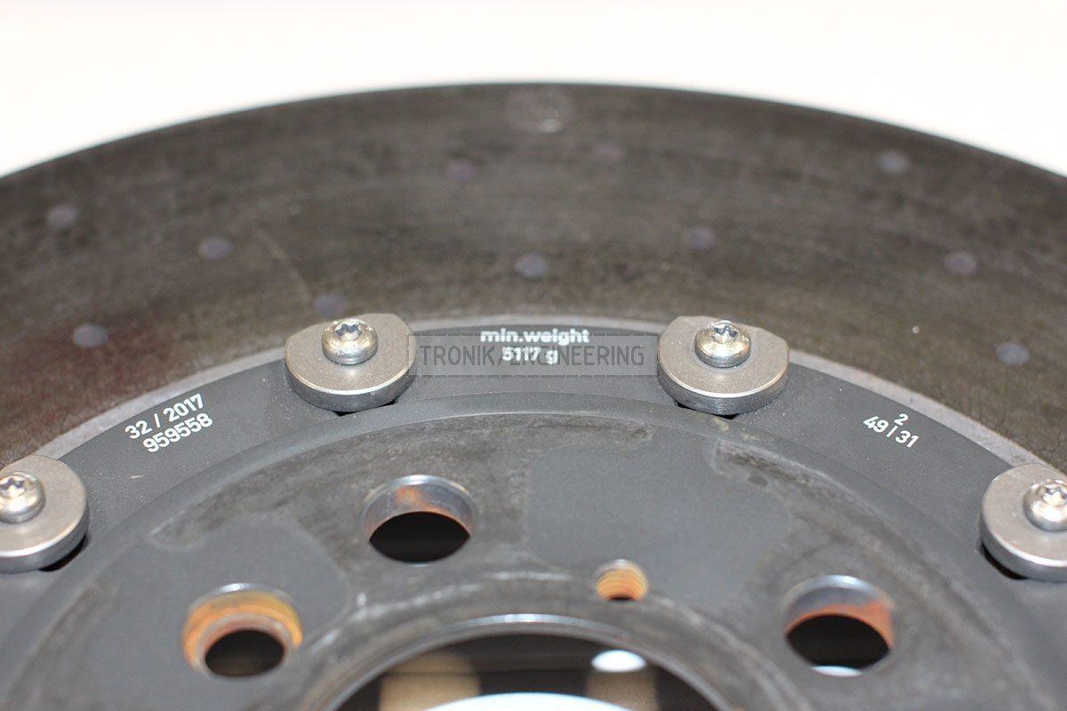 minimal weight right rear brake rotor 5117 gr