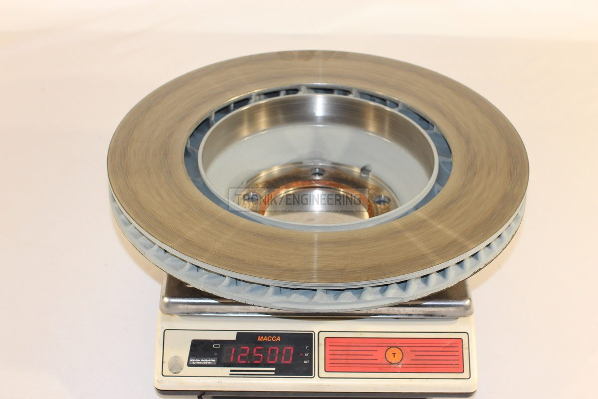 standard brake rotor weight 12500 gr