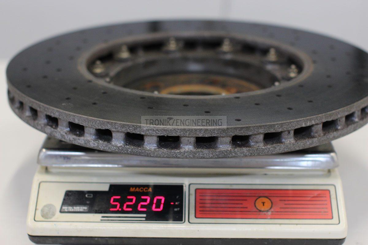 weight left rear ceramic rotor 5220 gr
