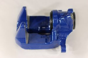 34 20 6 882 997, BMW F90 rear brake caliper housing blue, left