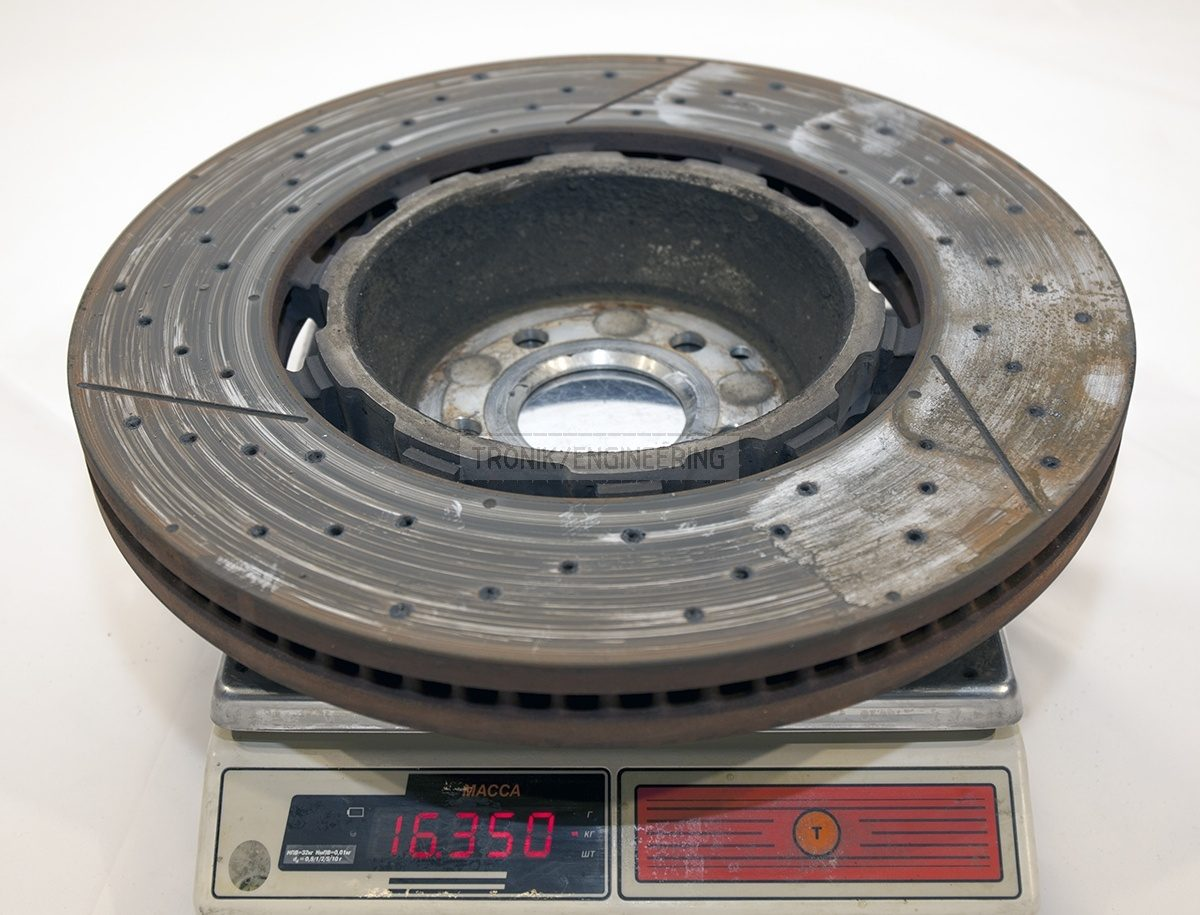 Mercedes W222 S63AMG front brake rotor weight 16 350 gr