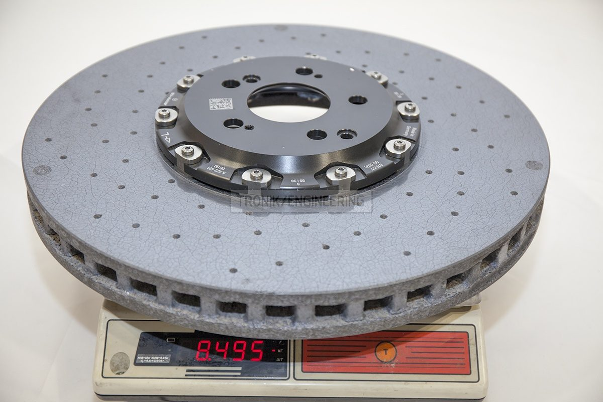 Mercedes W222 S63AMG front carbon ceramic brake rotor weight 8495 gr