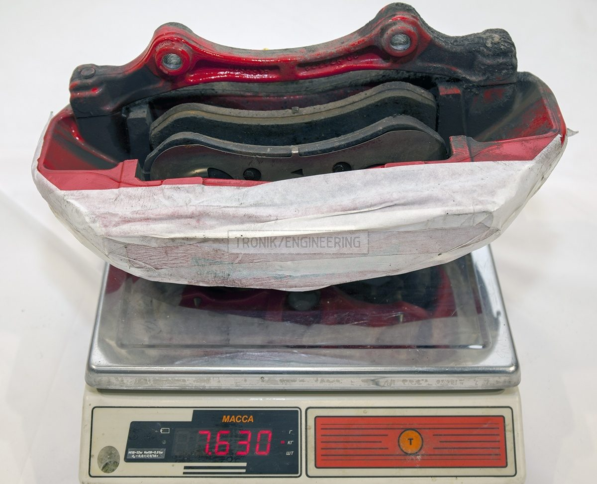 Mercedes W222 S63AMG original right caliper with pads weight is 7630 gr