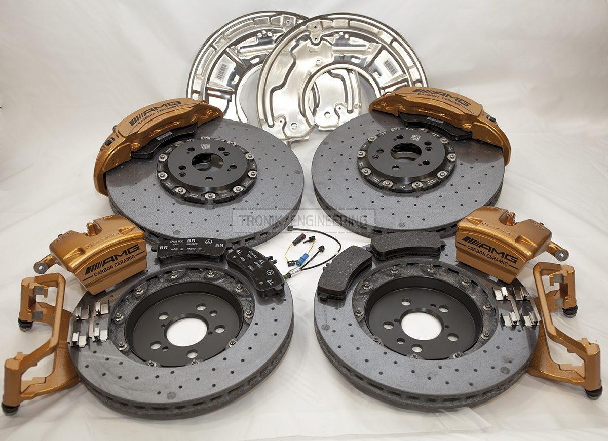carbon ceramic Mercedes W222 S63AMG brake system set pic 1