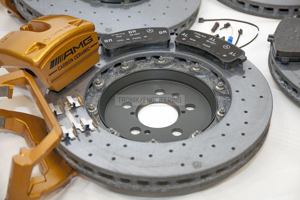 carbon ceramic Mercedes W222 S63AMG brake system set pic 2
