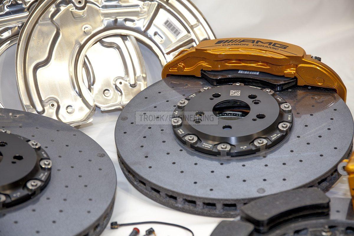 carbon ceramic Mercedes W222 S63AMG brake system set pic 3
