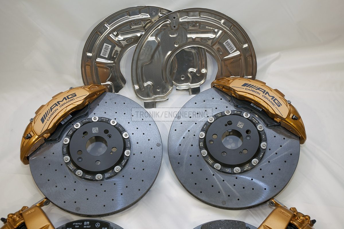 carbon ceramic Mercedes W222 S63AMG brake system set pic 4