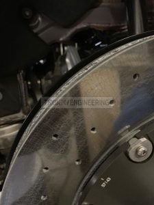 dust shield for bigger brake rotor 1