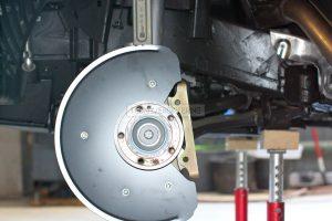 front brake rotor dust shield & caliper adapter