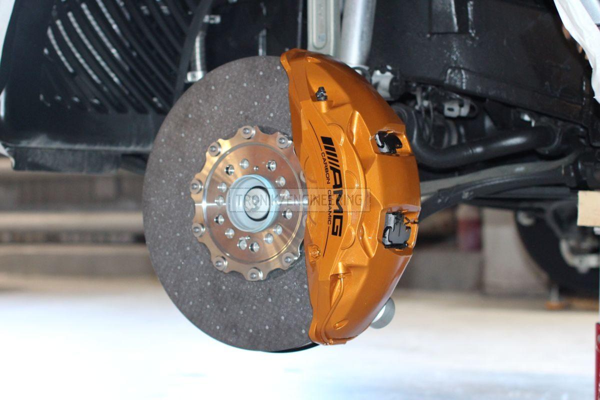 front xle brake system rotor 440/40 & 10 pot Akebono caliper