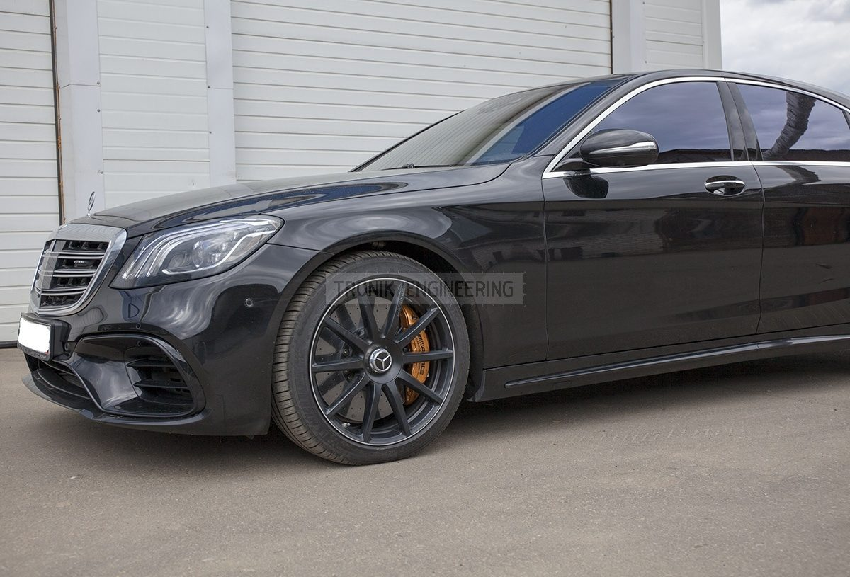 installed carbon ceramic brake system Mercedes W222 S63AMG pic 2