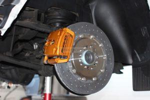 rear axle carbon ceramic brake system- brake rotor 410/32 & floating single pot AMG caliper
