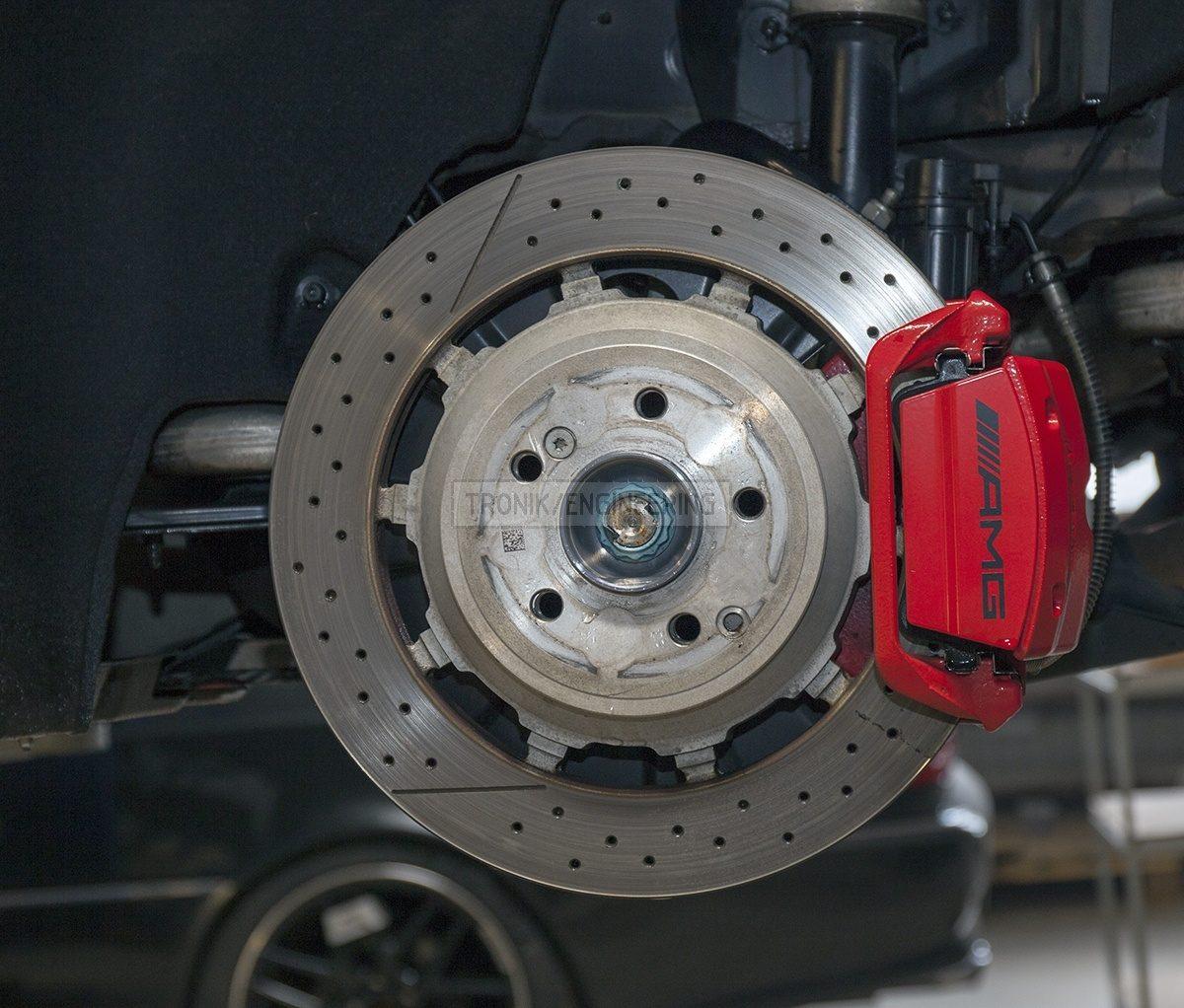 rear brake rotor W222 S63AMG  size 360-26 single pot caliper w/ floating bracket TRW