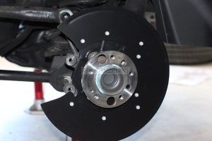 two part brake rotor dust shield