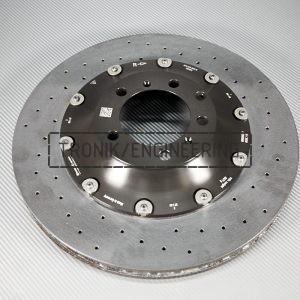 9Y.615.602.E, rear right Porsche Cayenne carbon-ceramic rotor.410x32mm. pic. 1